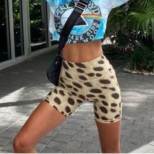 WeWoreWhat Leopard Splice Bike Shorts